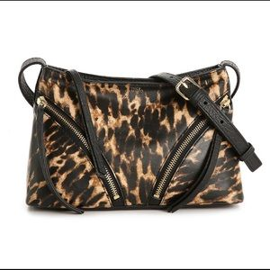 Vince Camuto Ozie leather crossbody bag leopard